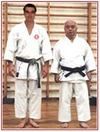Carter-sensei with Soke Mabuni image